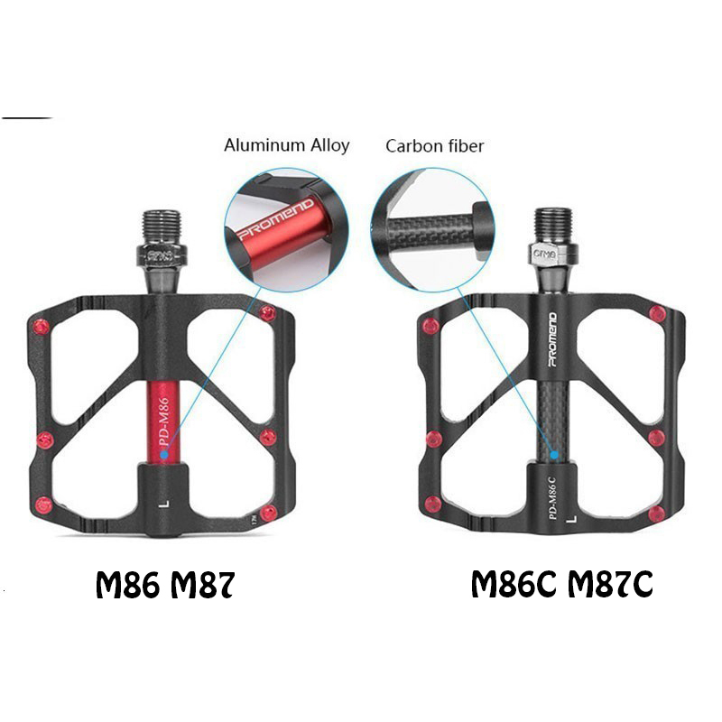 PROMEND-Sealed-Bearing-MTB-Road-Bike-Pedal-9-16-039-039-Flat-Aluminum-Bicycle-Pedals thumbnail 24