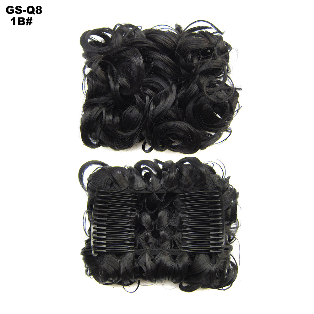 Scrunchie-Updo-Combs-Clip-in-Bun-Claw-Jaw-on-Messy-Wavy-Hair-Piece-Extensions-US thumbnail 12
