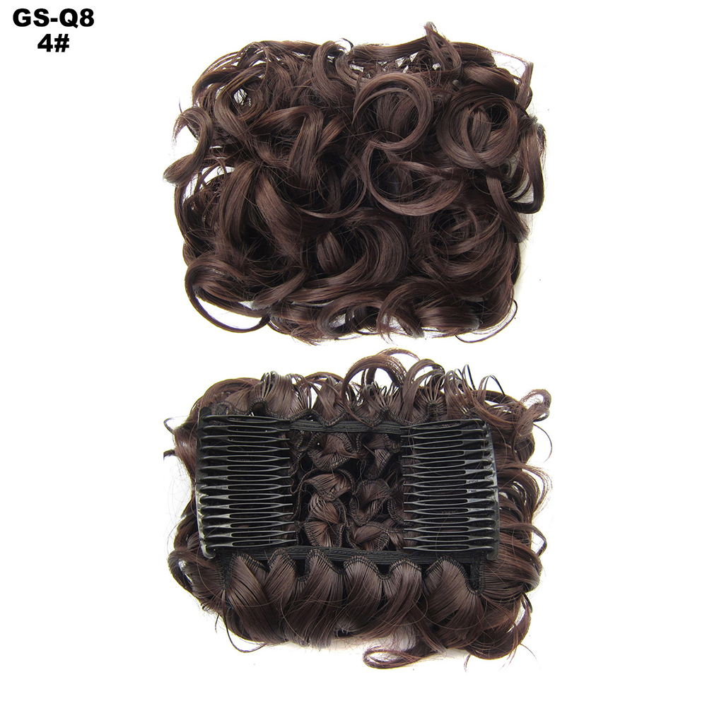 Scrunchie-Updo-Combs-Clip-in-Bun-Claw-Jaw-on-Messy-Wavy-Hair-Piece-Extensions-US thumbnail 14