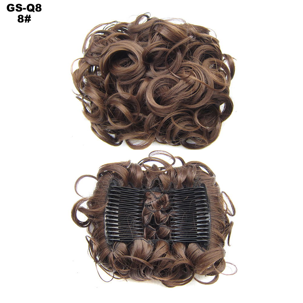 Scrunchie-Updo-Combs-Clip-in-Bun-Claw-Jaw-on-Messy-Wavy-Hair-Piece-Extensions-US thumbnail 16