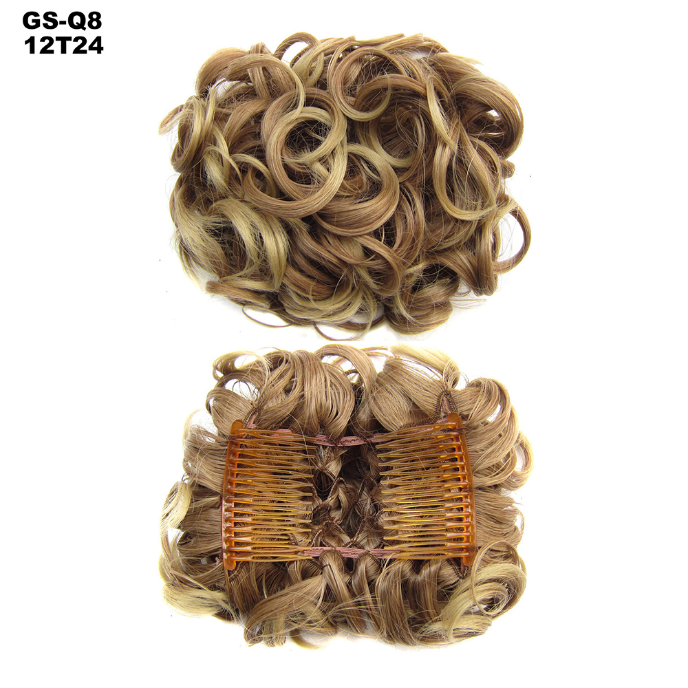 Scrunchie-Updo-Combs-Clip-in-Bun-Claw-Jaw-on-Messy-Wavy-Hair-Piece-Extensions-US thumbnail 18