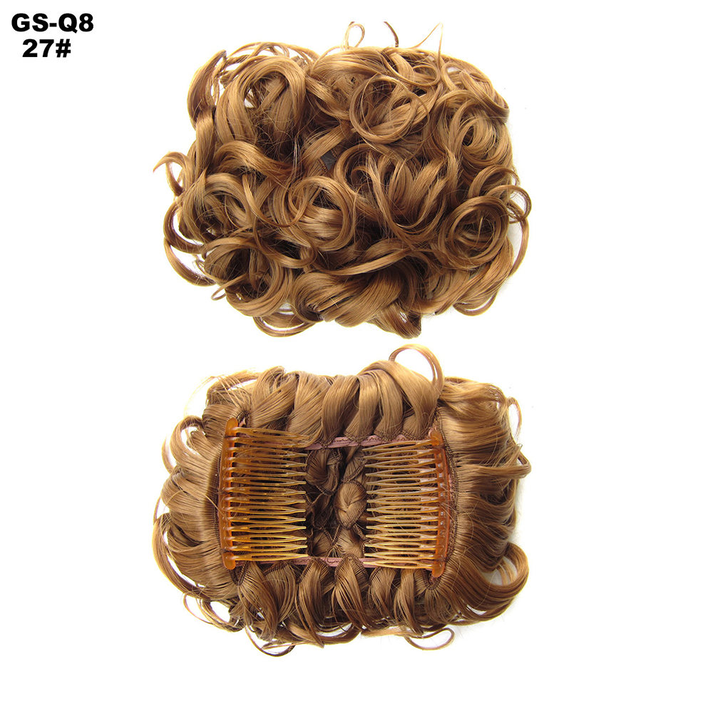 Scrunchie-Updo-Combs-Clip-in-Bun-Claw-Jaw-on-Messy-Wavy-Hair-Piece-Extensions-US thumbnail 22