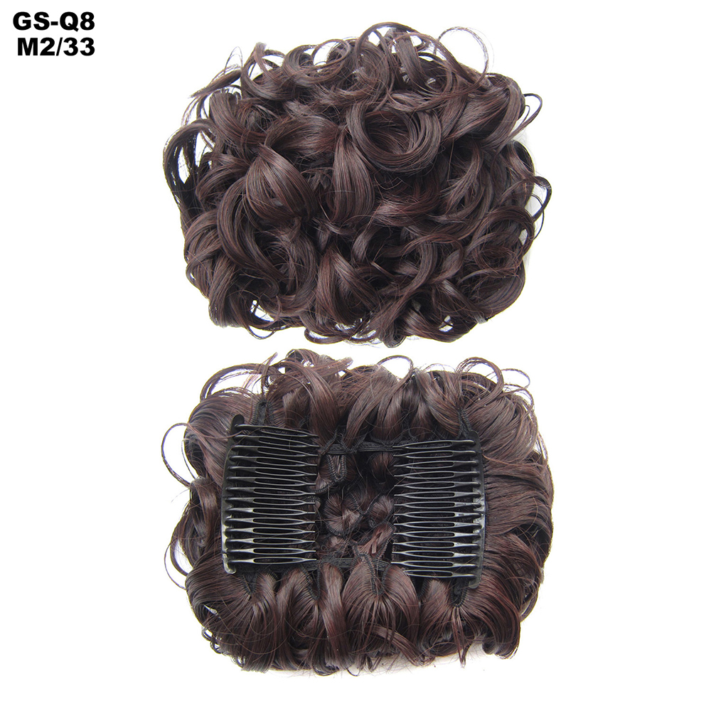 Scrunchie-Updo-Combs-Clip-in-Bun-Claw-Jaw-on-Messy-Wavy-Hair-Piece-Extensions-US thumbnail 26