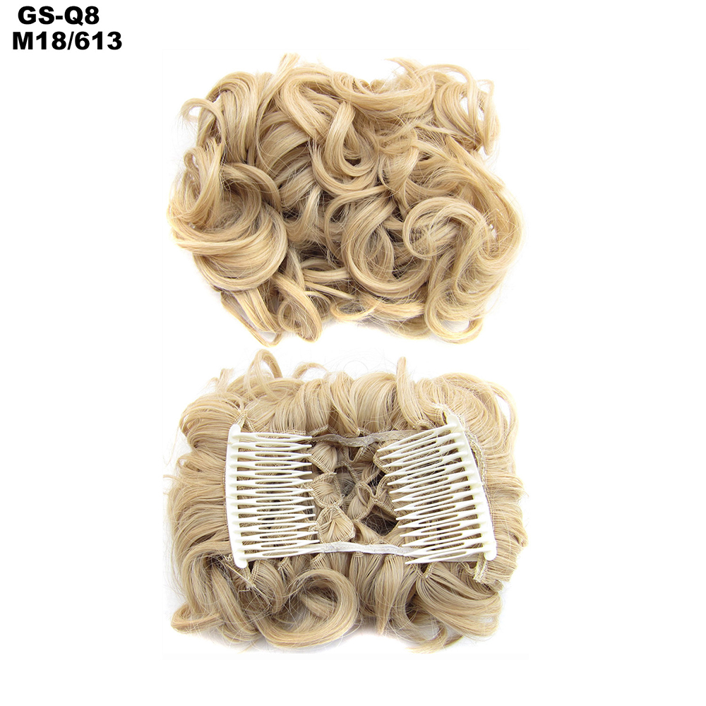 Scrunchie-Updo-Combs-Clip-in-Bun-Claw-Jaw-on-Messy-Wavy-Hair-Piece-Extensions-US thumbnail 32