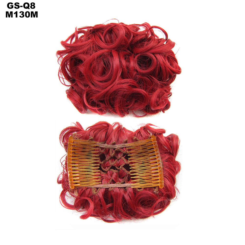 Scrunchie-Updo-Combs-Clip-in-Bun-Claw-Jaw-on-Messy-Wavy-Hair-Piece-Extensions-US thumbnail 36