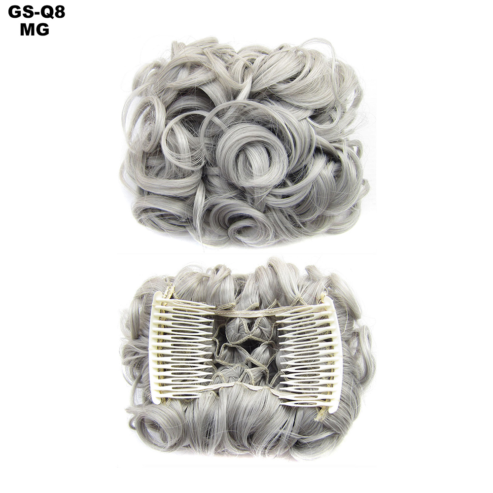 Scrunchie-Updo-Combs-Clip-in-Bun-Claw-Jaw-on-Messy-Wavy-Hair-Piece-Extensions-US thumbnail 38