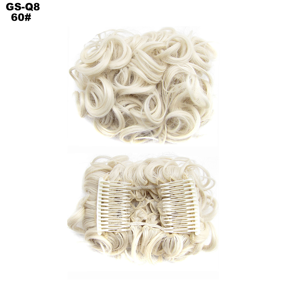 Scrunchie-Updo-Combs-Clip-in-Bun-Claw-Jaw-on-Messy-Wavy-Hair-Piece-Extensions-US thumbnail 44
