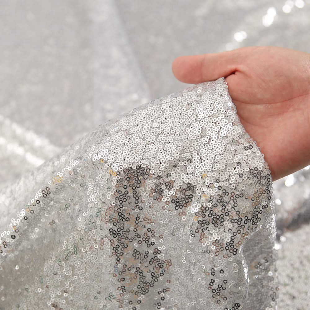 12-034-x-72-034-Glitter-Sequin-Table-Runner-Cloths-for-Xmas-Party-Banquet-Wedding thumbnail 17