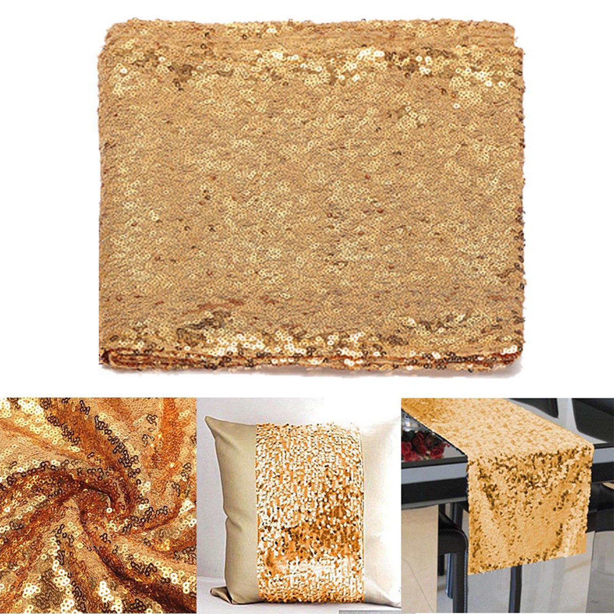 12-034-x-72-034-Glitter-Sequin-Table-Runner-Cloths-for-Xmas-Party-Banquet-Wedding thumbnail 20