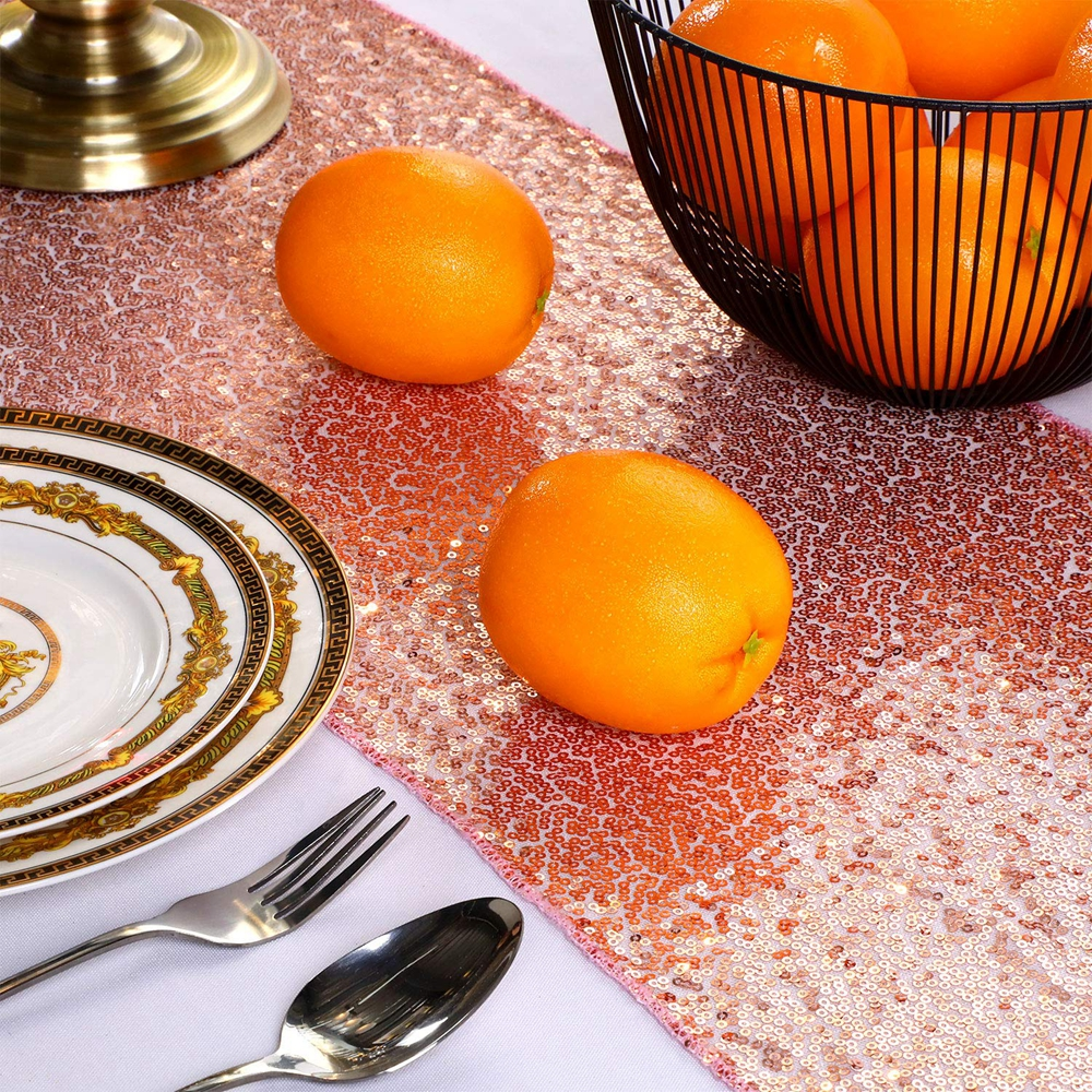 12-034-x-72-034-Glitter-Sequin-Table-Runner-Cloths-for-Xmas-Party-Banquet-Wedding thumbnail 22
