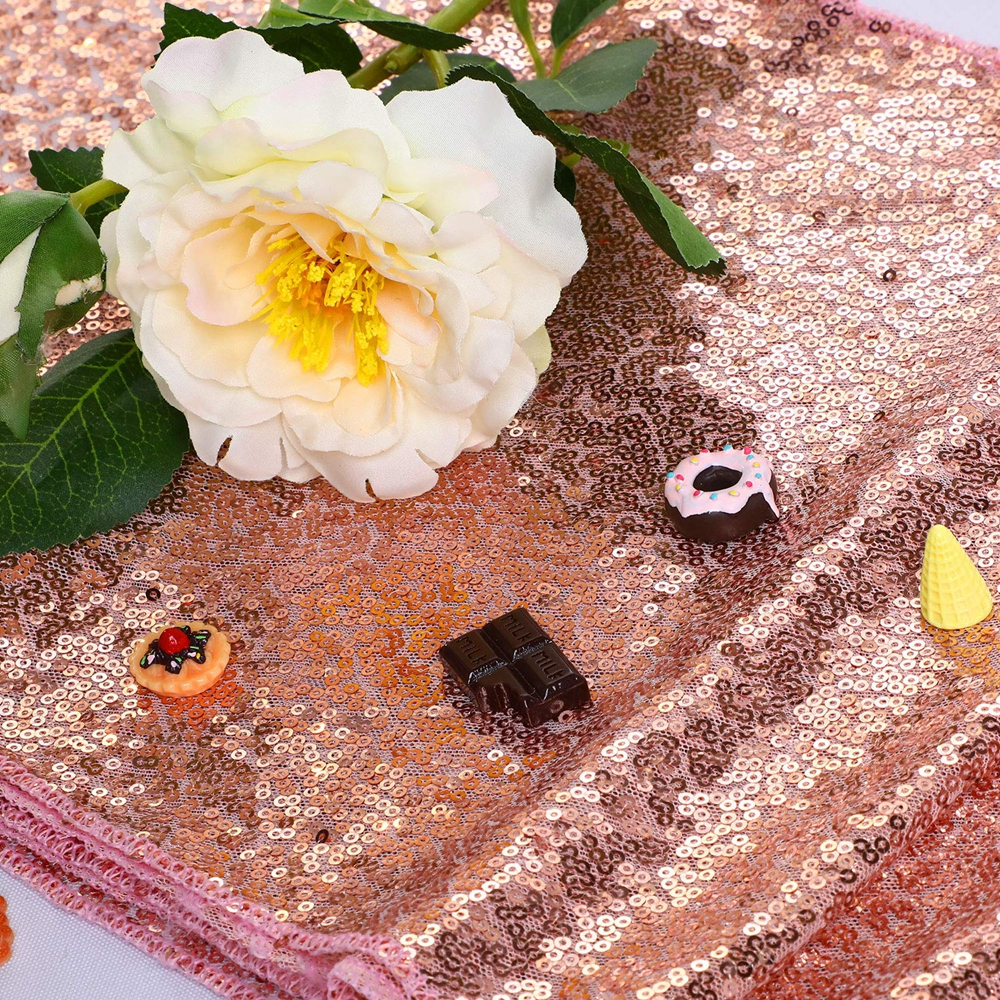 12-034-x-72-034-Glitter-Sequin-Table-Runner-Cloths-for-Xmas-Party-Banquet-Wedding thumbnail 23