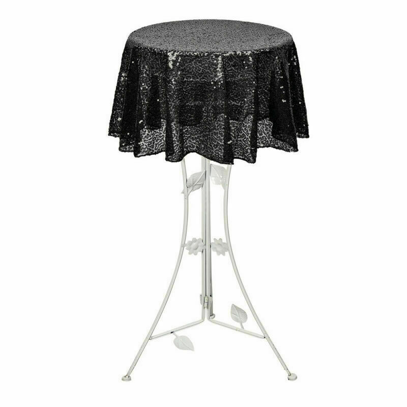 Sparkly-Round-Sequin-Tablecloth-Cover-Wedding-Banquet-Christmas-Party-Home-Decor thumbnail 16