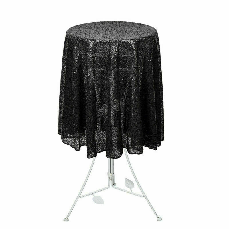 Sparkly-Round-Sequin-Tablecloth-Cover-Wedding-Banquet-Christmas-Party-Home-Decor thumbnail 17