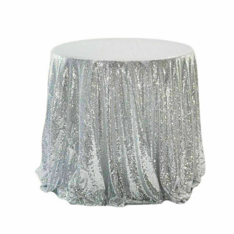 Sparkly-Round-Sequin-Tablecloth-Cover-Wedding-Banquet-Christmas-Party-Home-Decor thumbnail 22