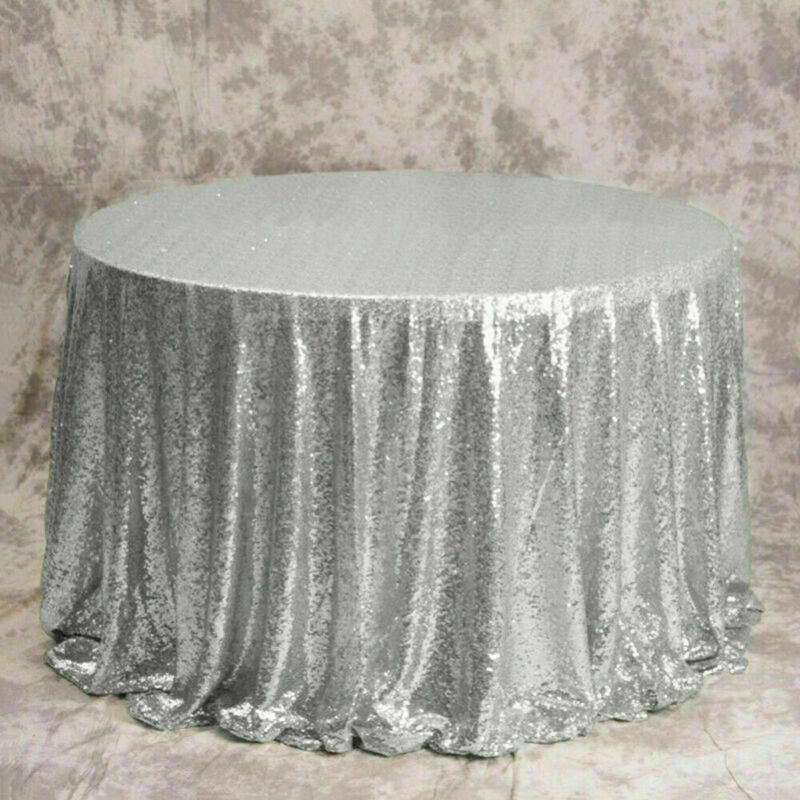 Sparkly-Round-Sequin-Tablecloth-Cover-Wedding-Banquet-Christmas-Party-Home-Decor thumbnail 23