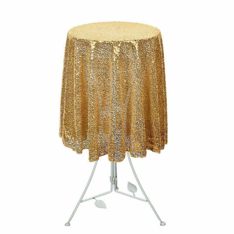 Sparkly-Round-Sequin-Tablecloth-Cover-Wedding-Banquet-Christmas-Party-Home-Decor thumbnail 28