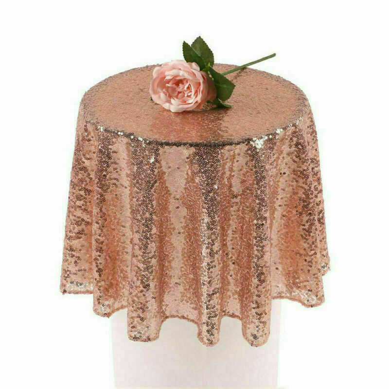 Sparkly-Round-Sequin-Tablecloth-Cover-Wedding-Banquet-Christmas-Party-Home-Decor thumbnail 32