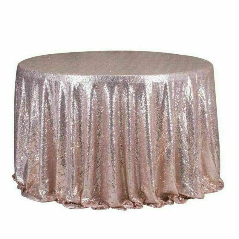 Sparkly-Round-Sequin-Tablecloth-Cover-Wedding-Banquet-Christmas-Party-Home-Decor thumbnail 34