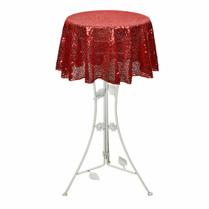 Sparkly-Round-Sequin-Tablecloth-Cover-Wedding-Banquet-Christmas-Party-Home-Decor thumbnail 40