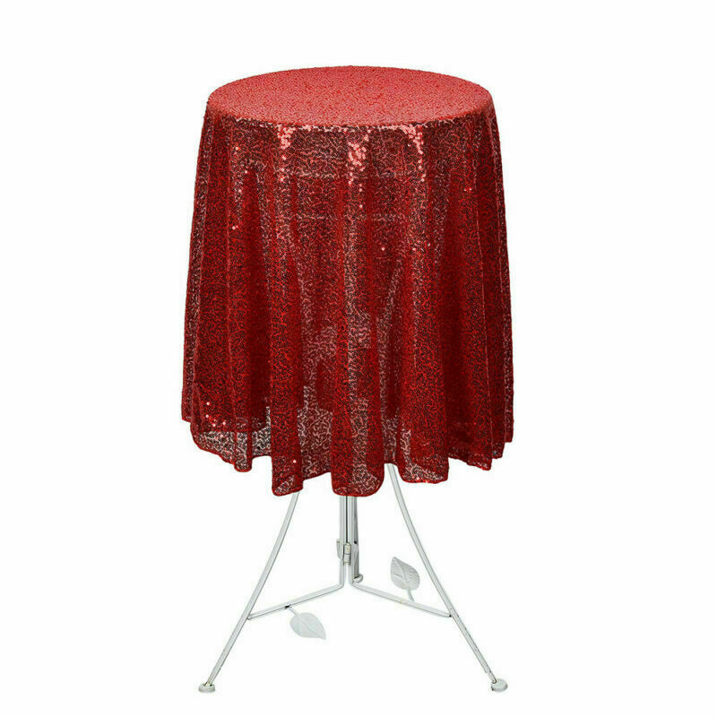 Sparkly-Round-Sequin-Tablecloth-Cover-Wedding-Banquet-Christmas-Party-Home-Decor thumbnail 41