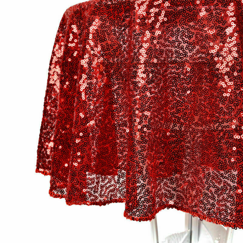 Sparkly-Round-Sequin-Tablecloth-Cover-Wedding-Banquet-Christmas-Party-Home-Decor thumbnail 42