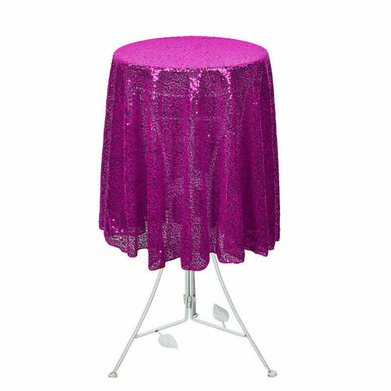 Sparkly-Round-Sequin-Tablecloth-Cover-Wedding-Banquet-Christmas-Party-Home-Decor thumbnail 49