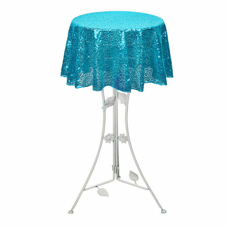 Sparkly-Round-Sequin-Tablecloth-Cover-Wedding-Banquet-Christmas-Party-Home-Decor thumbnail 54