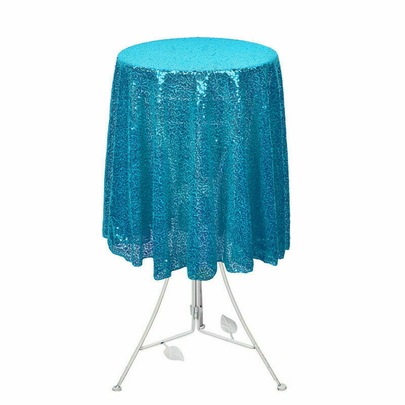 Sparkly-Round-Sequin-Tablecloth-Cover-Wedding-Banquet-Christmas-Party-Home-Decor thumbnail 55