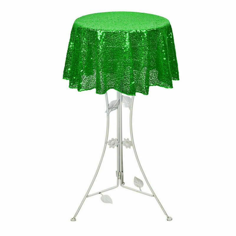 Sparkly-Round-Sequin-Tablecloth-Cover-Wedding-Banquet-Christmas-Party-Home-Decor thumbnail 57