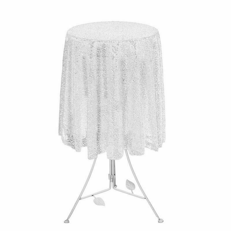Sparkly-Round-Sequin-Tablecloth-Cover-Wedding-Banquet-Christmas-Party-Home-Decor thumbnail 13