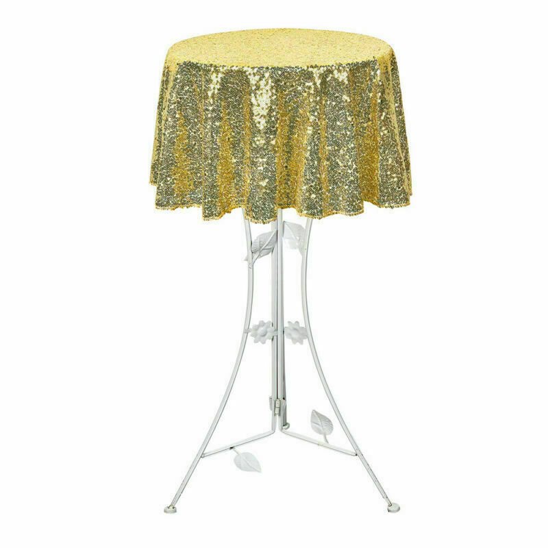 Sparkly-Round-Sequin-Tablecloth-Cover-Wedding-Banquet-Christmas-Party-Home-Decor thumbnail 60