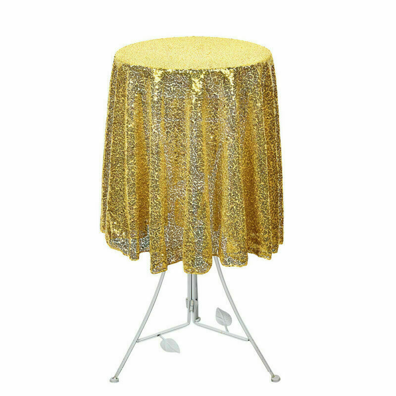 Sparkly-Round-Sequin-Tablecloth-Cover-Wedding-Banquet-Christmas-Party-Home-Decor thumbnail 61