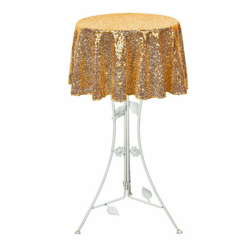 Sparkly-Round-Sequin-Tablecloth-Cover-Wedding-Banquet-Christmas-Party-Home-Decor thumbnail 67