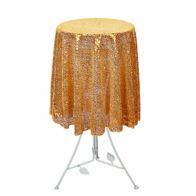 Sparkly-Round-Sequin-Tablecloth-Cover-Wedding-Banquet-Christmas-Party-Home-Decor thumbnail 68