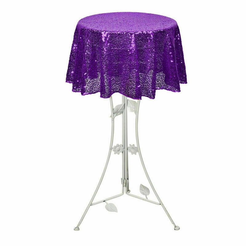 Sparkly-Round-Sequin-Tablecloth-Cover-Wedding-Banquet-Christmas-Party-Home-Decor thumbnail 63