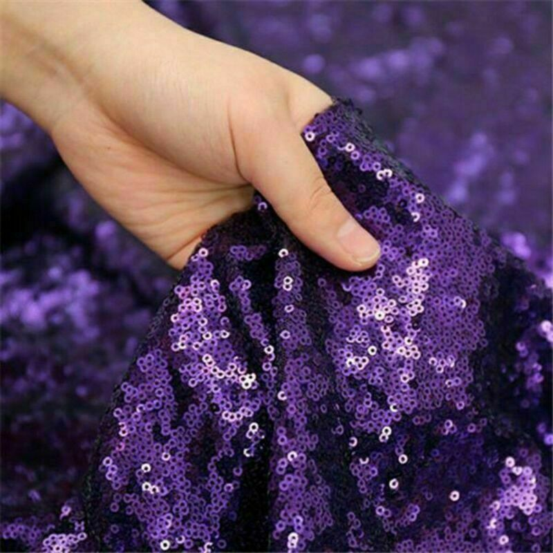 Sparkly-Round-Sequin-Tablecloth-Cover-Wedding-Banquet-Christmas-Party-Home-Decor thumbnail 65