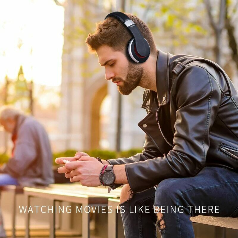 Wireless-Bluetooth-5-0-Headphone-Foldable-Stereo-Earphone-Super-Bass-Headset-Mic thumbnail 2