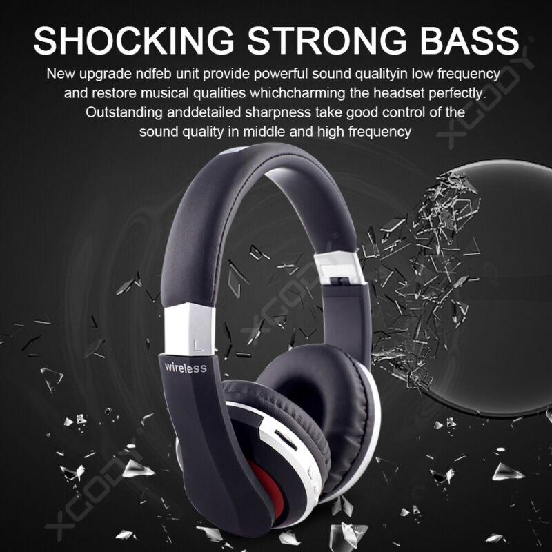Wireless-Bluetooth-5-0-Headphone-Foldable-Stereo-Earphone-Super-Bass-Headset-Mic thumbnail 6