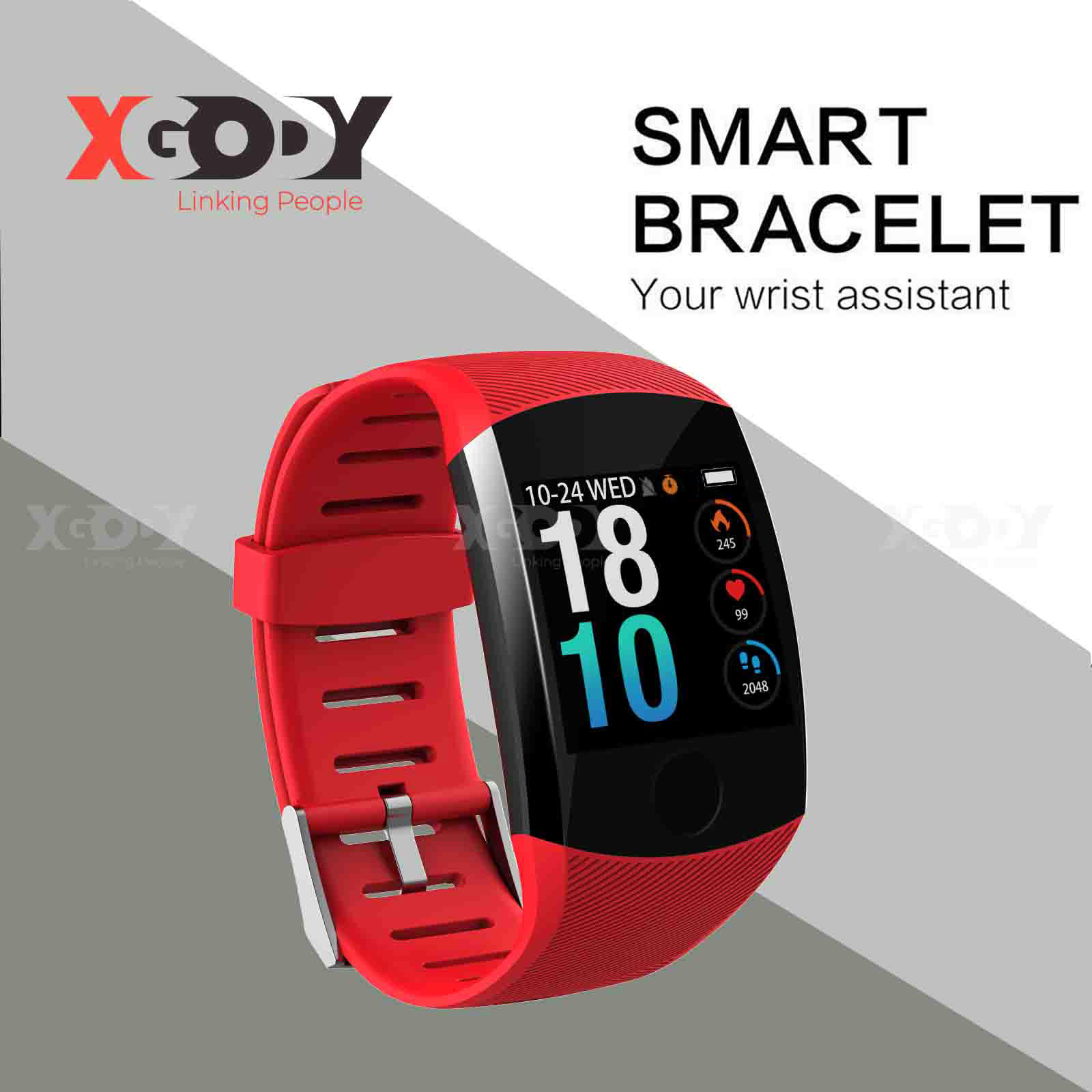 XGODY Smart Watch IP67 Heart Rate/Blood Pressure Monitor And