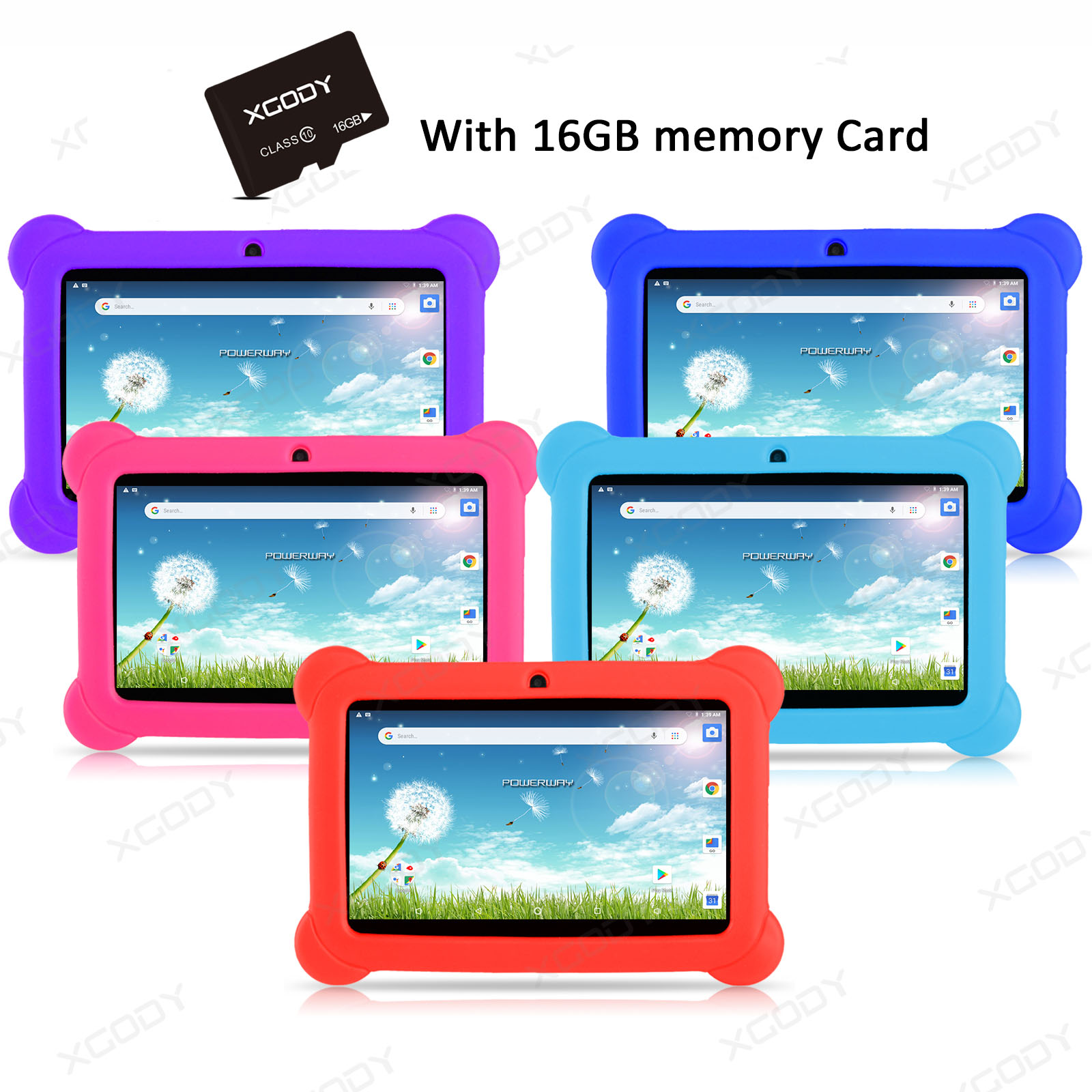 """16/32GB 7"""" XGODY Android 8.1 Tablet PC QUAD-CORE 2 Cam WiFi"""