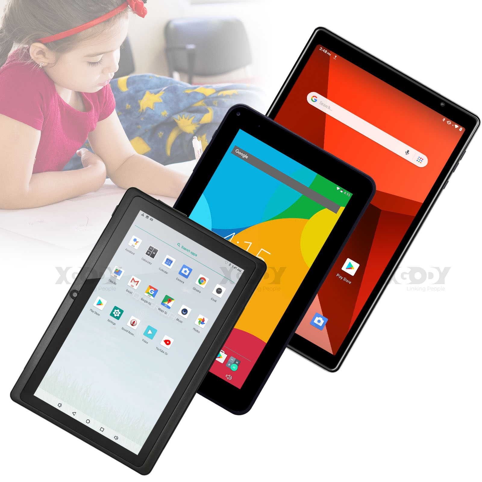 """XGODY Android 7""""/9""""/10"""" inch Tablet PC 16GB ROM Quad Core WI"""