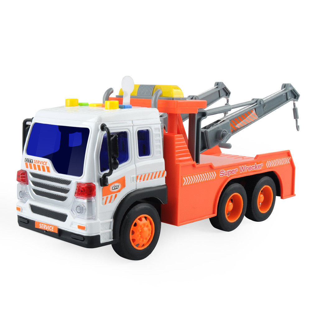 Big Heavy Duty Wrecker Tow Truck Toy Rotate For Kids With