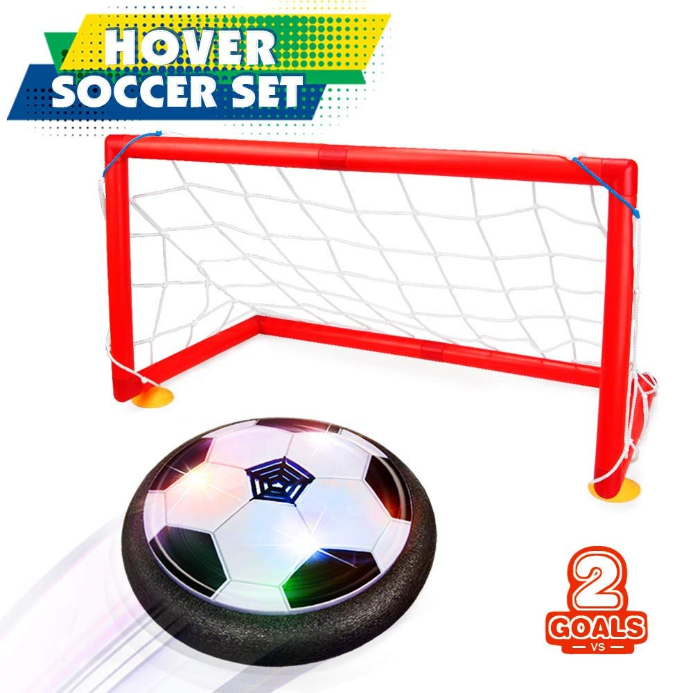 Kids Toys Hover Soccer Ball Set with 2 Goals Gift Football Disk Toy ... deb098b1ec3