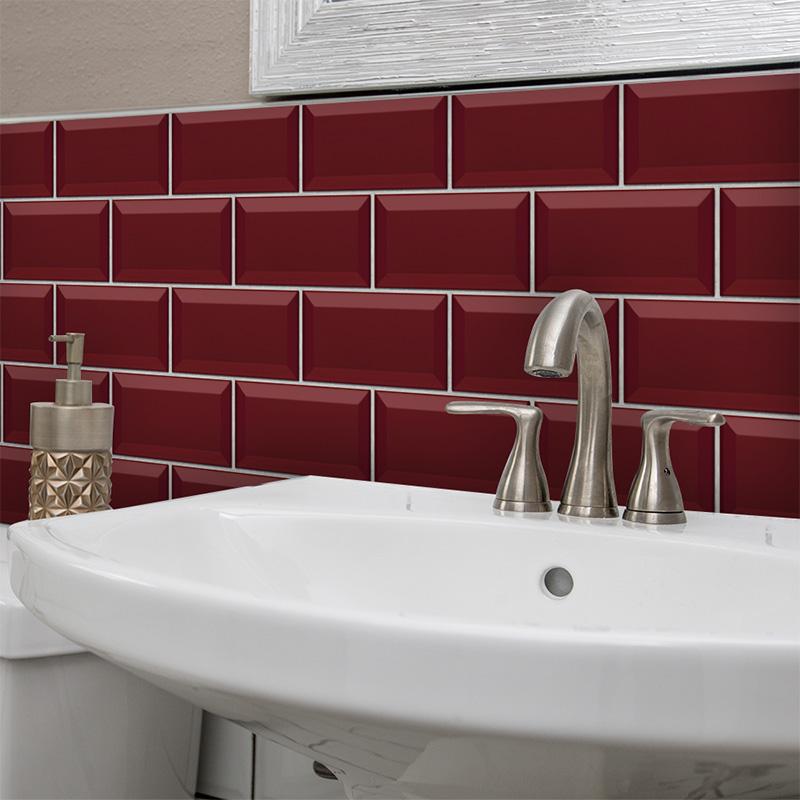 Self Adhesive Mosaic Tile Sticker Kitchen Bathroom Wall Sticker Decor 10X20CM US
