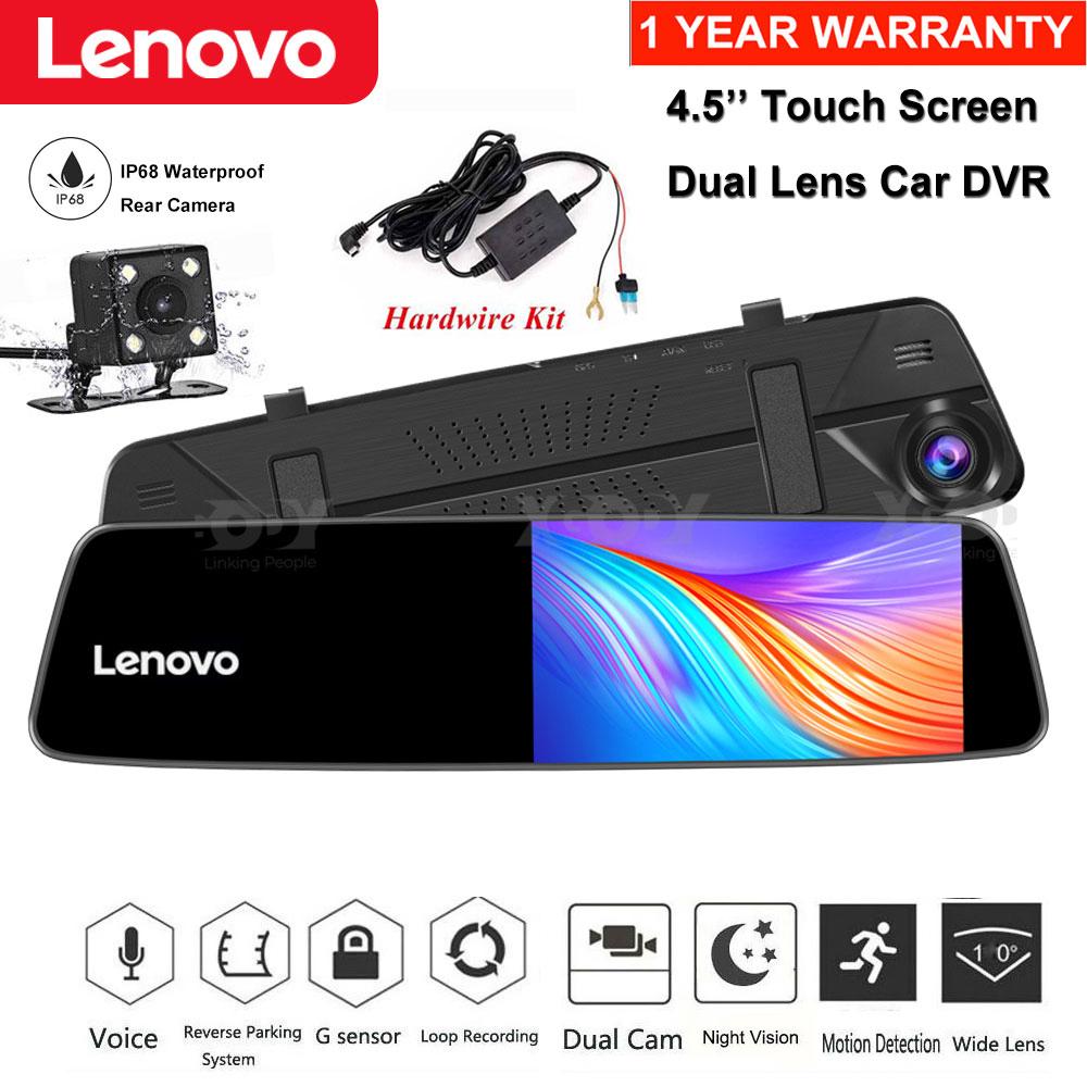"""Lenovo 4.5"""" 1080P Car DVR Dash Cam Rearview Camera Parking M"""