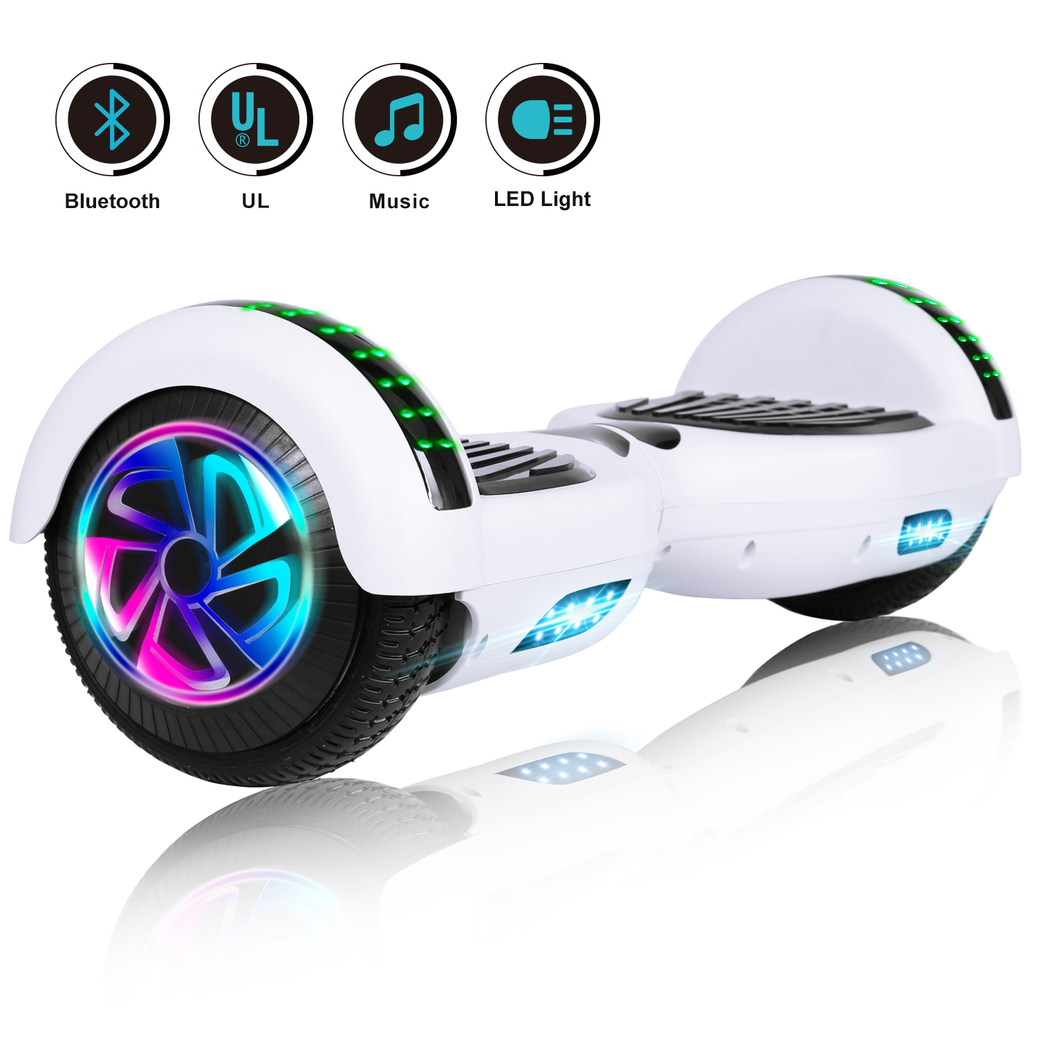 6-5-034-Bluetooth-Hoverboard-LED-Self-Balancing-Scooter-UL2272-no-Bag-US-Best-Gift thumbnail 2