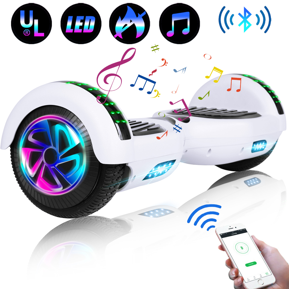 6-5-034-Bluetooth-Hoverboard-LED-Self-Balancing-Scooter-UL2272-no-Bag-US-Best-Gift thumbnail 3