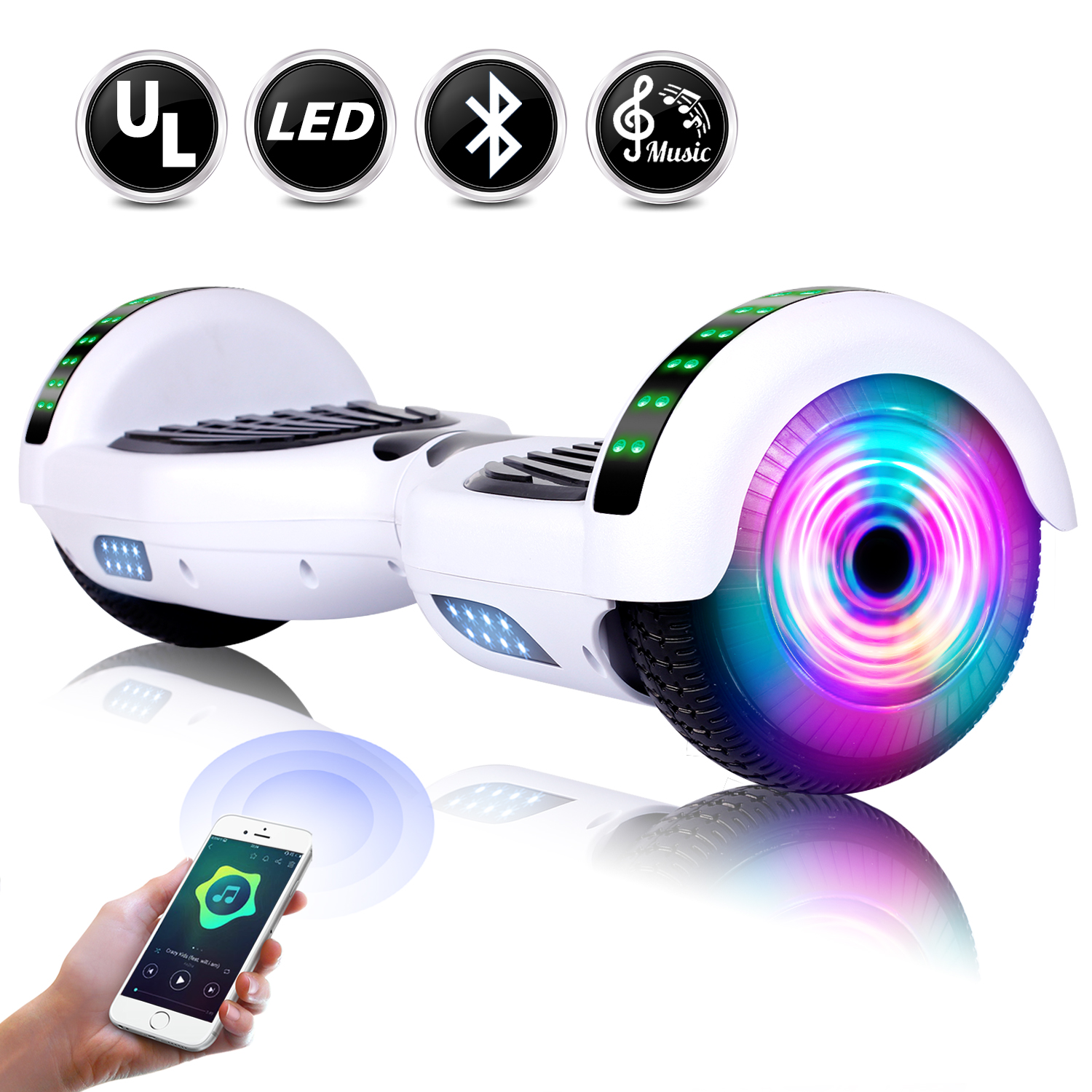 6-5-034-Bluetooth-Hoverboard-LED-Self-Balancing-Scooter-UL2272-no-Bag-US-Best-Gift thumbnail 8