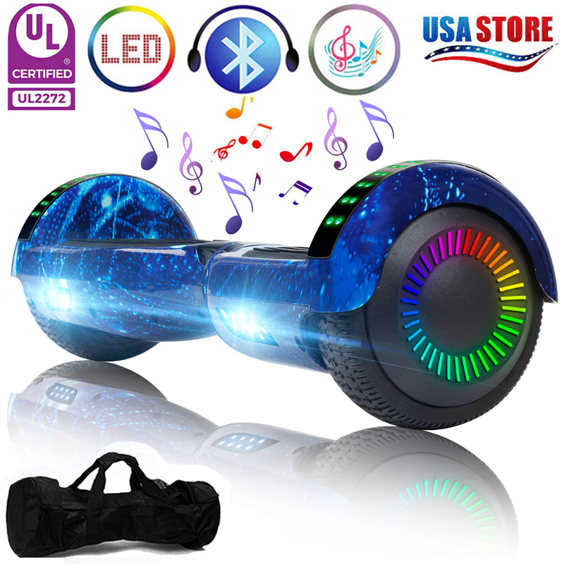 "6.5"" Bluetooth Hoverboard LED Self Balancing Scooter UL Star"