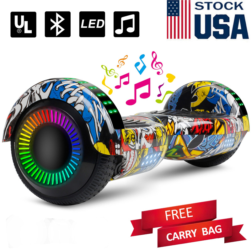 6.5'' Hooverboard bluetooth LedWheel Electric Scooter nobag
